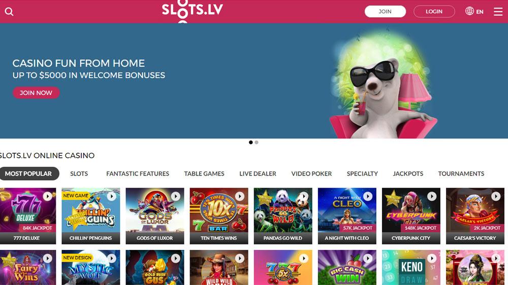 Slots.lv - USA Online Casino